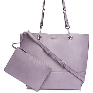 Calvin Klein Reversible Tote with Pouch Purple